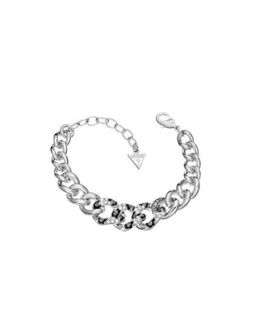 Guess   Metallic Rhodium Bracelet   Lyst