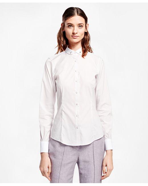 Brooks Brothers Tailored Club Collar Cotton Poplin Shirt