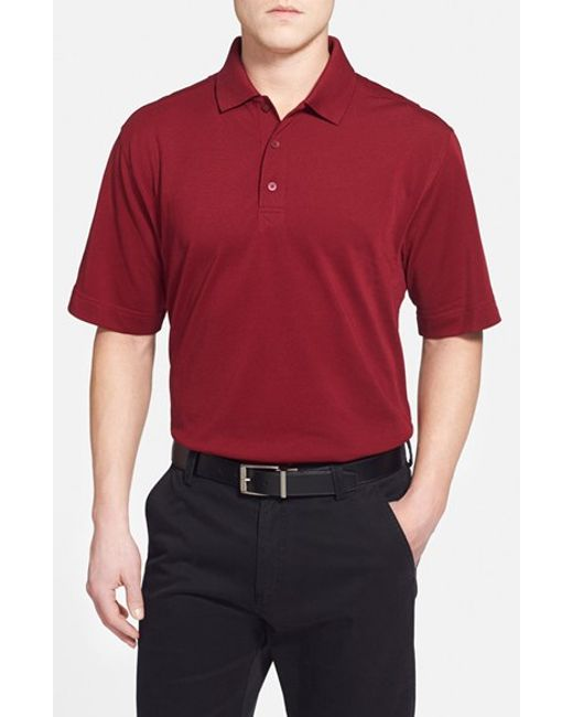 Cutter & Buck | Red 'championship' Classic Fit Drytec Golf Polo for Men | Lyst
