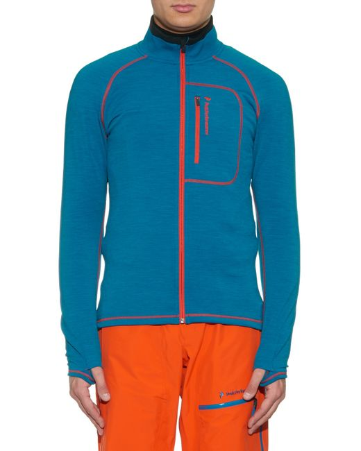 Peak Performance Heli Mid Layer Ski Jacket In Blue For Men