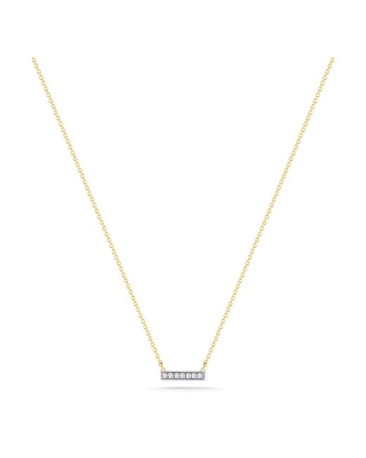 Dana Rebecca | Yellow Sylvie White Diamond Bar | Lyst
