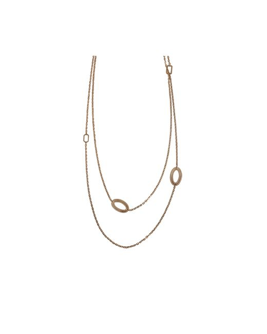 Rebecca | Metallic Elizabeth Long Circle Stone Necklace | Lyst