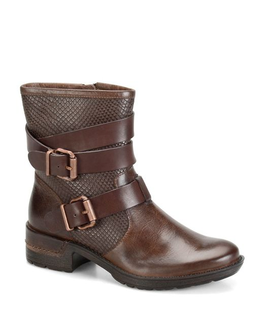 s 246 fft aldina leather ankle boots in brown lyst