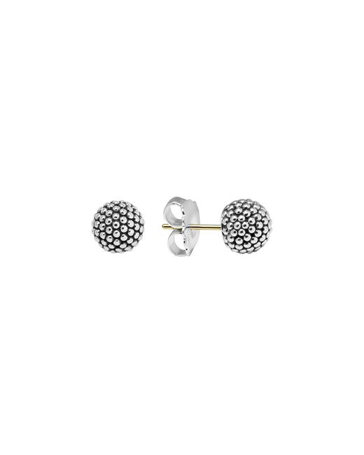Lagos | Metallic Sterling Silver Beaded Earrings, 10mm | Lyst