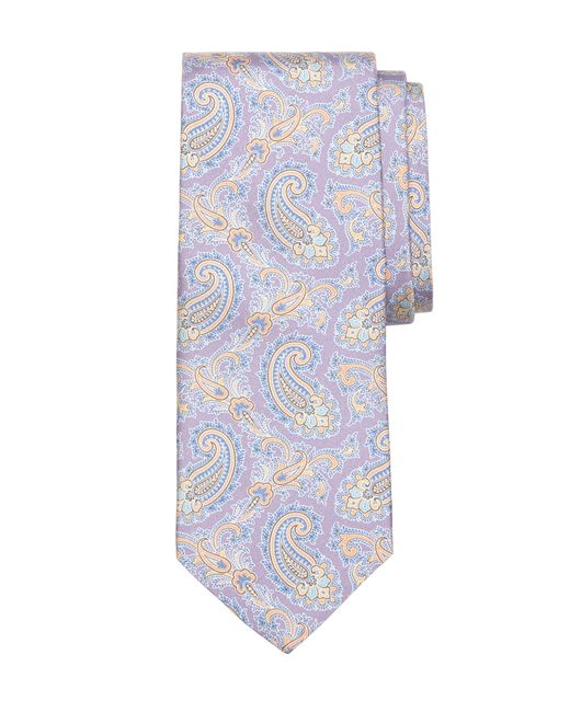 Brooks Brothers | Purple Small Paisley Print Tie for Men | Lyst