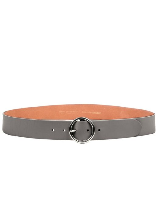 Linea Pelle | Gray Round Buckle Hip Belt | Lyst