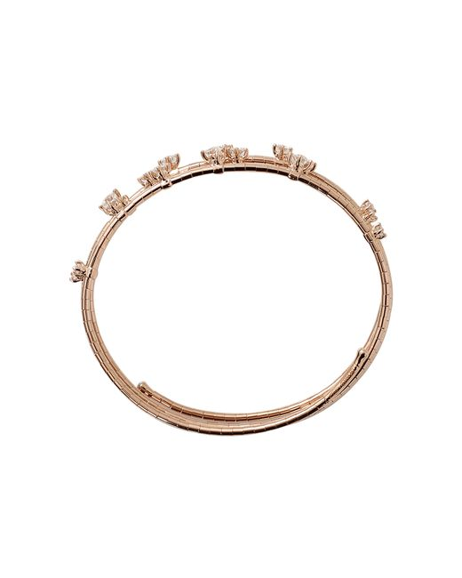 Mattia Cielo | Pink Rugiada Three-circle Wrap Diamond Bracelet | Lyst