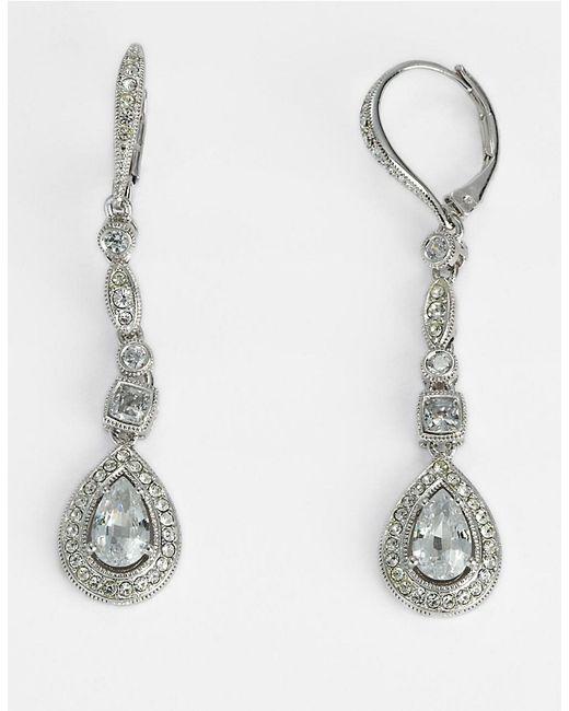Nadri | Metallic Pavé Huggie Earrings | Lyst