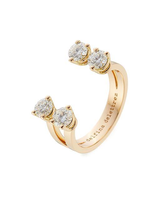 Delfina Delettrez | Metallic 18kt Pink Gold Ring With Diamonds | Lyst