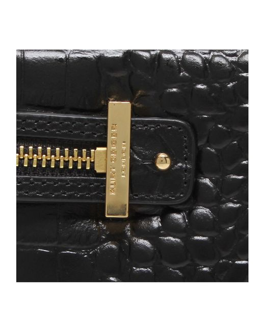Kurt Geiger | Black Croc London Pouch | Lyst