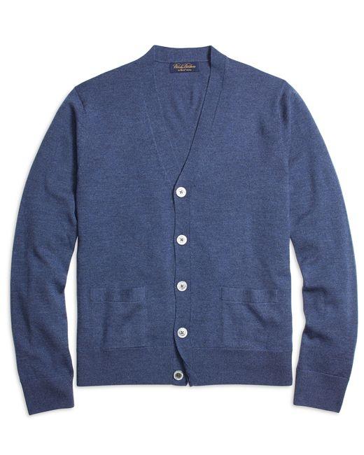 Brooks Brothers   Blue Saxxon Wool Cardigan for Men   Lyst