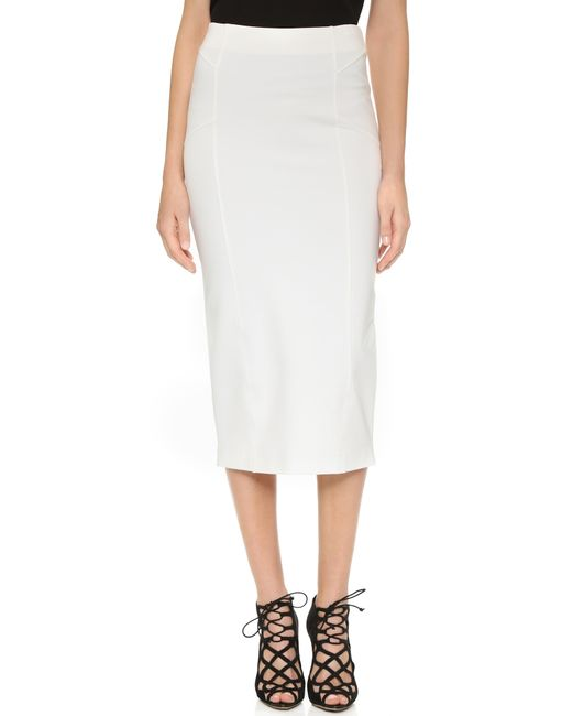 beard vail high waisted skirt in white ivory lyst