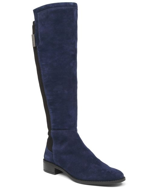 vince camuto jamirah suede the knee boots in blue