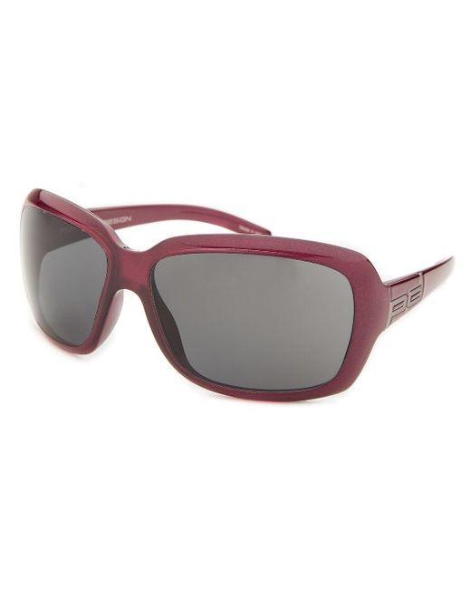Porsche Design Women S Rectangle Violet Red Sunglasses In