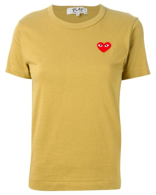 Play Comme Des Gar Ons Embroidered Heart T Shirt In Green