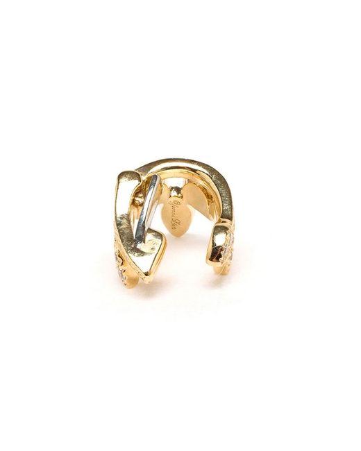 Yvonne Léon | Metallic Diamond Helix Ear Cuff | Lyst
