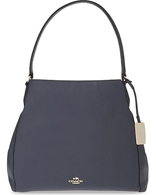 COACH | Blue Edie Grained Leather Shopper | Lyst