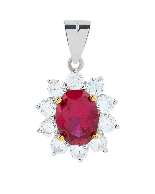 Carat* | Pink 2ct Fancy Oval Ruby Pendant | Lyst