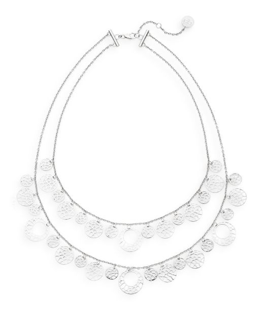 Ron Hami | Metallic Silver Lining Tiered Lace Coin Bib Necklace | Lyst