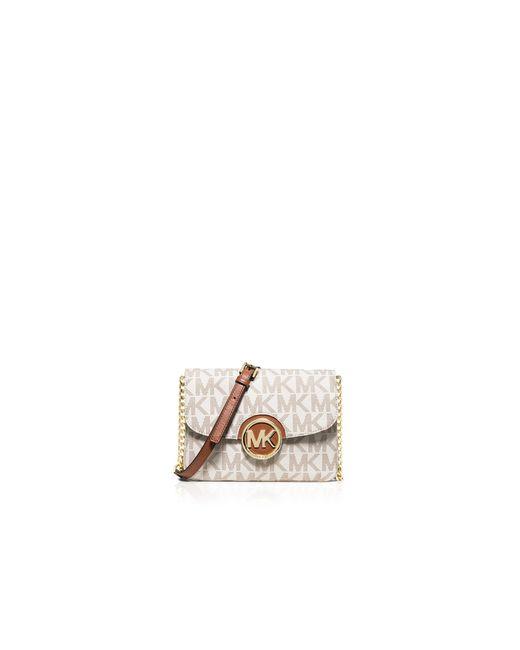 MICHAEL Michael Kors | White Crossbody - Fulton Flap Gusset | Lyst