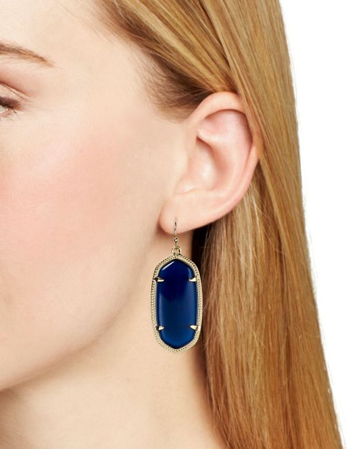 Kendra Scott Navy Cats Eye