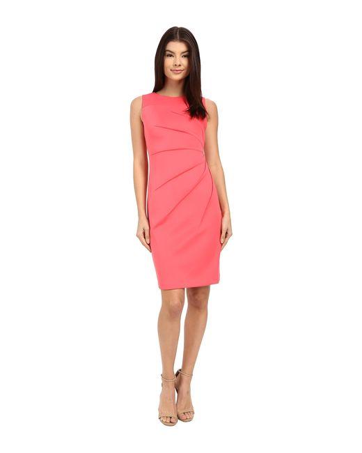Calvin Klein Starburst Sheath Dress Cd6m1b4p In Pink