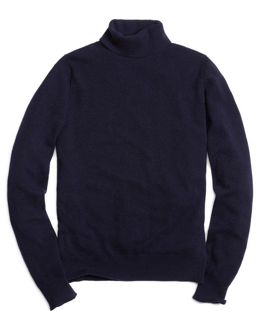 Brooks Brothers | Blue Cashmere Turtleneck Sweater for Men | Lyst