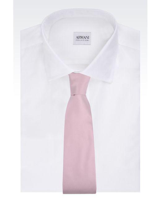 Armani   Purple Silk Tie for Men   Lyst