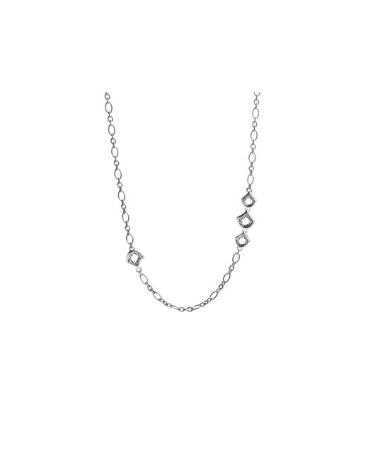 John Hardy | Metallic Naga Sterling Silver Figaro Chain Necklace With Figurative Clasp, 36"