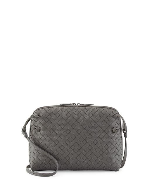 Bottega Veneta | Gray Intrecciato Messenger Bag | Lyst