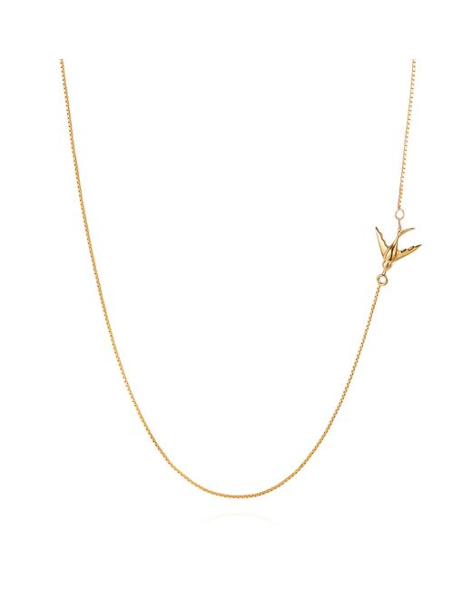 Lee Renee | Metallic Swallow Necklace – Gold Vermeil | Lyst