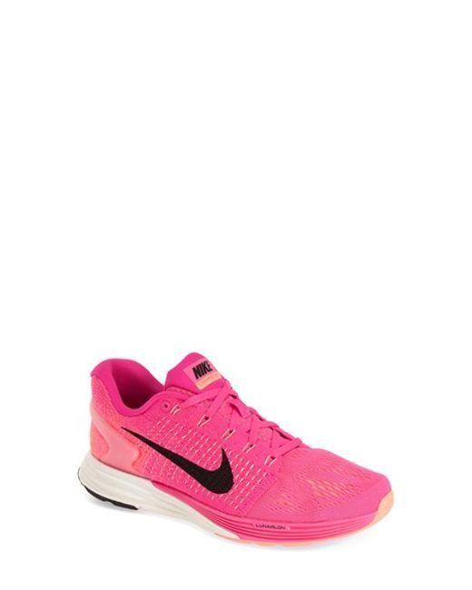 Nike | Pink 'lunarglide 7' Running Shoe | Lyst