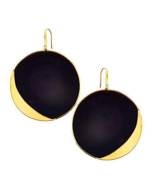 Lana Jewelry | Metallic 14k Jet Black Disc Earrings | Lyst