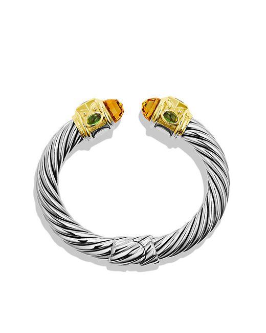 David Yurman | Metallic Renaissance Bracelet With Citrine, Iolite, And 14k Gold, 10mm | Lyst