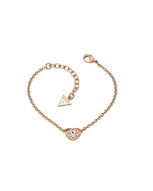 Guess | Pink Rose Gold Bracelet | Lyst