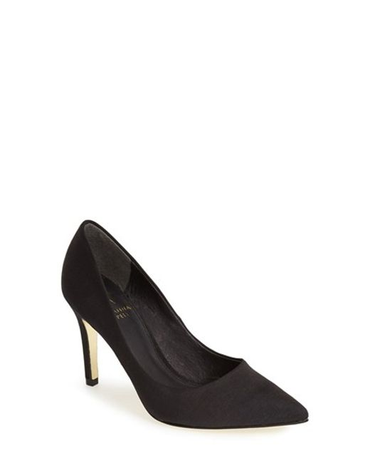 Adrianna Papell | Black Pointy Toe Pump | Lyst