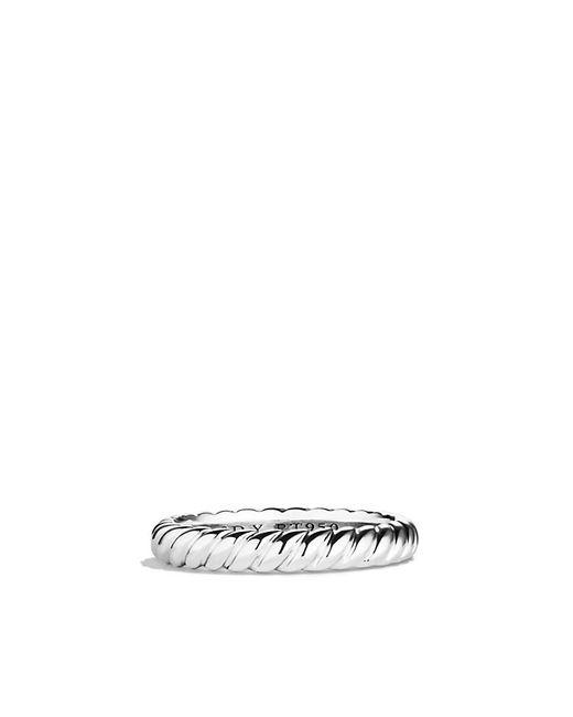 David Yurman | Metallic Dy Unity Cable Wedding Band In Platinum, 3mm | Lyst