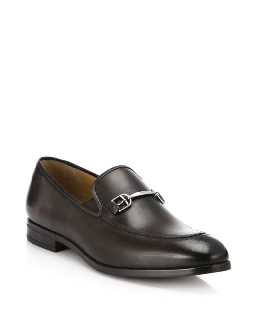 Bally | Brown Labens Double Gore Leather Bit Loafers for Men | Lyst