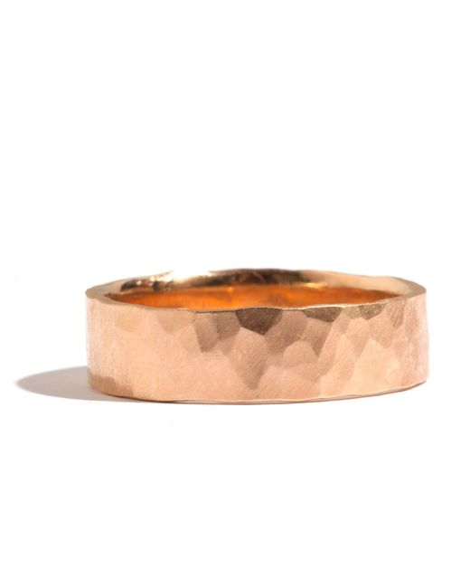 Melissa Joy Manning | Metallic 18k Rose Gold Hammered Texture 6mm Ring | Lyst
