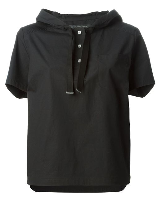 Marc By Marc Jacobs | Black Hooded Boxy T-shirt | Lyst
