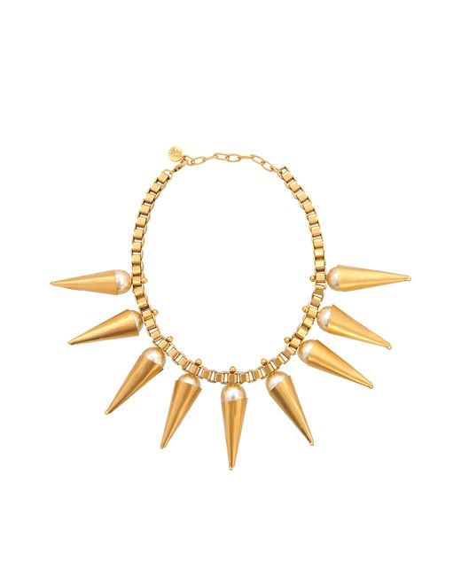 Ela Stone | Metallic Carla Plastron Necklace With Pearls | Lyst