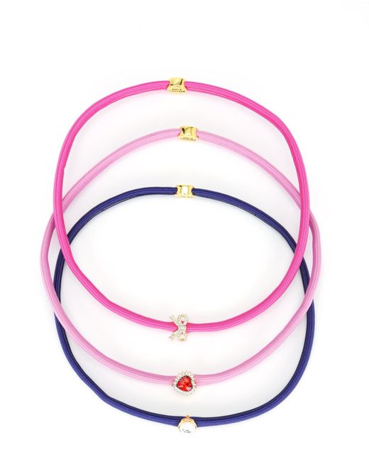 Juicy Couture | Purple Set Of 3 Charmy Headbands | Lyst