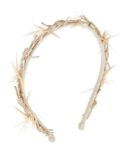 Gigi Burris Millinery | White Barbed Wire Velvet Headband | Lyst
