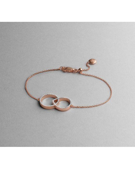 Monica Vinader | Pink Naida Kiss Open Bracelet | Lyst