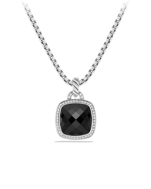 David Yurman | Metallic Albion Pendant With Black Orchid And Diamonds, 14mm | Lyst