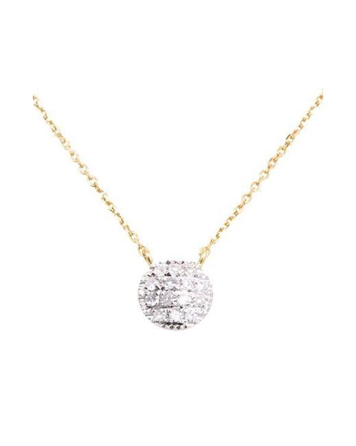 Dana Rebecca | Metallic 'lauren Joy' Diamond Disc Pendant Necklace | Lyst