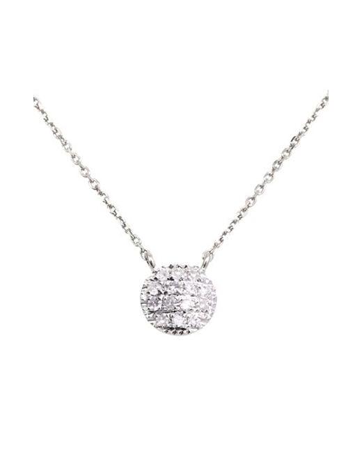 Dana Rebecca | White 'lauren Joy' Diamond Disc Pendant Necklace | Lyst