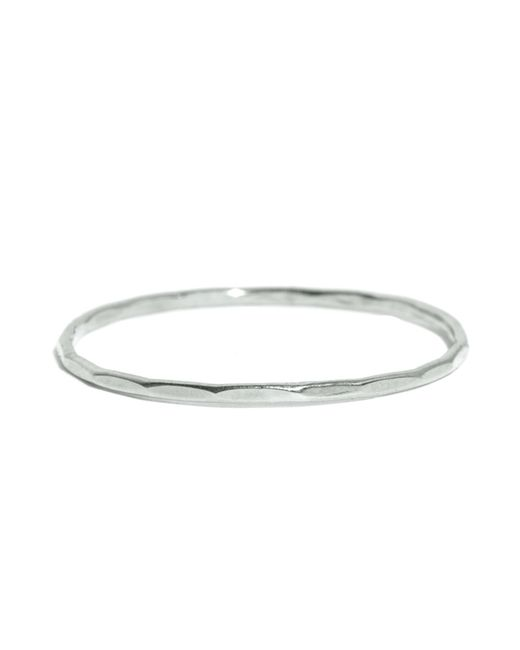 Melissa Joy Manning | Metallic 14k White Gold Hammered Texture 1mm Ring | Lyst
