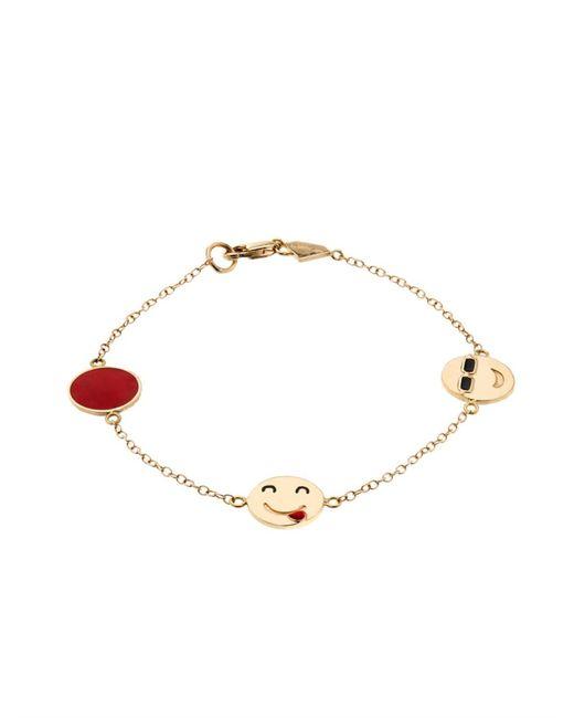 Alison Lou | Enamel & Yellow-Gold I'M A Flirt Bracelet | Lyst