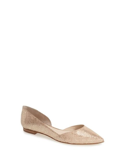 Marc Fisher | Natural Sunny Half-D'Orsay Flats | Lyst
